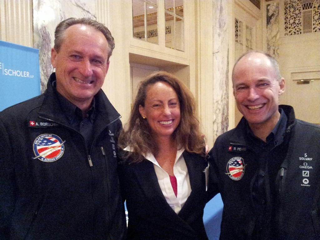 at the Waldof Astroia during REFF Wall Street in 2013, Andre and Bertrand with World Team Now's Suzanne Maxx.