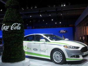 "Ford  is ""Teaming Up"" with Coca Cola to use Coca Cola's PlantBottle Technology for bio-based fabricused in the Fusion  Energi"