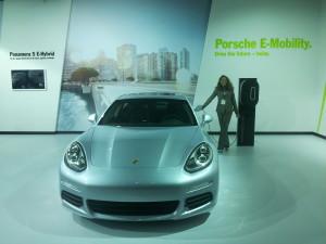 Suzanne Maxx with the Porsche Panamera S E-Hybrid
